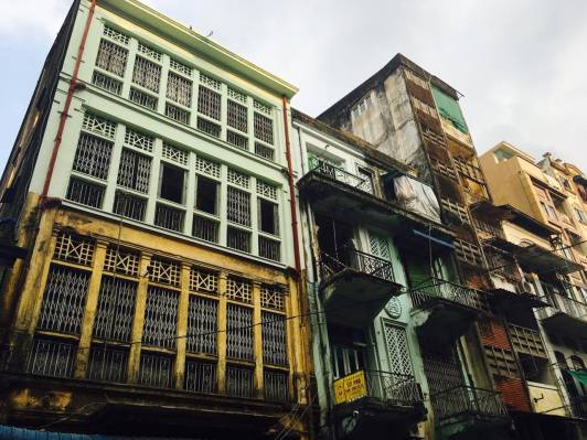 Colonial buildings _ Yangon _ mehmehsasa